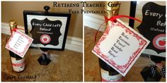 Retiring Teacher Gift with Free Printables - craftyourself.com