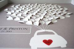 Wedding Guest Book Alternative 3D Balloons car by SuzyShoppe, $200.00