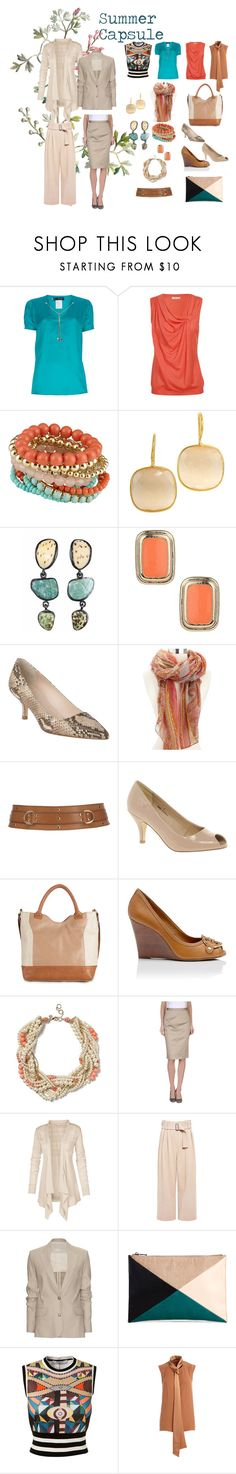 Summer Capsule by imageatelier on Polyvore featuring ADAM, Nina Ricci, Givenchy, Dsquared2, Fat Face, Acne Studios, A.L.C., D&G, Tory Burch and L.K.Bennett