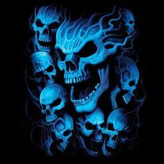Blue-Lighted Skulls ~