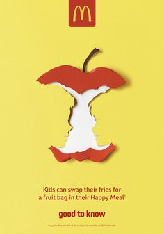 A series of paper cut ads for McDonald's UK Good to Know campaign, with the use of negative space to create fun and impactful optical illusions.