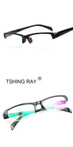 fc4ed7739b6e TSHING RAY Men Women Fashion Myopia Glasses Short Sight Eyewear Half Frame  Blue Coated Reader Diopter