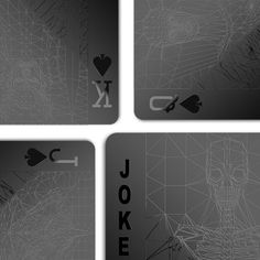 I like these black playing cards