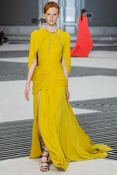 Giambattista Valli Fall 2015 Couture...am not usually into yellow, but this dress is next level glamour-RUNWAY