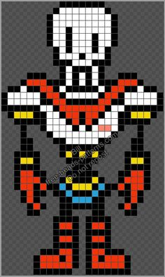 Pixel Beads, Fuse Beads, Perler Bead Art, Perler Beads, Cross Stitch Art, Cross Stitch Patterns, Undertale Pixel Art, Pixel Art Grid, Pixel Art Templates