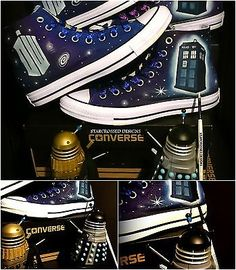 #Wow!doctor who all star converse #shoes custom fan art, any #size! dw tardis,  View more on the LINK: http://www.zeppy.io/product/gb/2/181882520748/