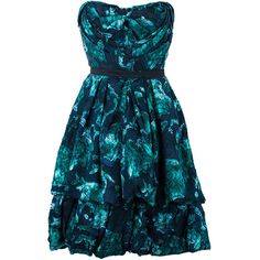 LC - Buy & Sell - Louis Vuitton Green Burnout Detail Cocktail Dress S ❤ liked on Polyvore featuring dresses, louis vuitton, burnout dress, blue dress, green dress and louis vuitton dresses