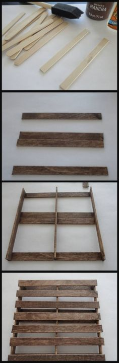diy pallet coasters | click for directions!