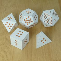 Math shapes and dice