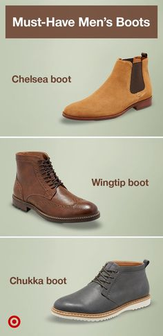 Find must-have suede or leather men's boots in trending styles, from Chelsea to Chukka. Gq Style, Men Style Tips, Men Dress, Dress Shoes, Dress Clothes, Mens Boots Fashion, Men S Shoes, Mens Clothing Styles, Swagg