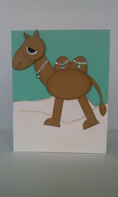 Camel punch art card. Funloving card for someone by ClarksonCrafts
