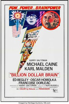 Billion Dollar Brain Movie Poster Print x New Movies, Movies And Tv Shows, Brain Poster, Ed Begley, Get Carter, Karl Malden, Ken Russell, Inspirational Movies, France