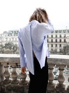 ne of the most fundamental wardrobe pieces this Spring is the blue cotton shirt. Because it's such a classic piece, there are many ways you can style it. Here are some of our favorite ways to style the blue shirt this Spring: