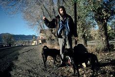 Alex Webb USA. Ranchos de Taos, New Mexico. 2001. Hitchhiker. Despite rampant development, Taos remains a whiff of the Sixties.