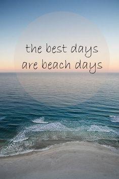 Beach days are happy days