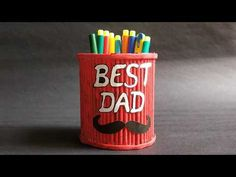 Fathers Day Gift Ideas 2020 | Pen Stand craft idea easy | Homemade Fathers Day Gifts with Newspaper - YouTube Homemade Fathers Day Gifts, Fathers Day Crafts, Gifts For Father, Craft From Waste Material, Newspaper Crafts, Best Dad, Easy Crafts, Birthday Gifts, Best Gifts
