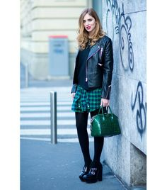 @Who What Wear - Flannel Shirt You've been wearing this '90s shirt all season, now try it as a skirt! No really, button it up half way and tie it around your waist—it will feel like a completely fresh. Image from The Blonde Salad