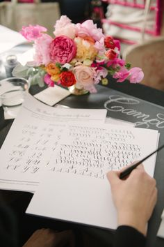 Calligraphy class: http://www.stylemepretty.com/2014/08/05/10-things-to-do-with-your-bridesmaids/