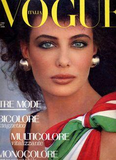 Kelly LeBrock  -  Italian Vogue  1982