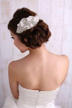 《Being of Love》全司華洛世奇水晶刺繡頭飾 / 華麗新娘髮飾 - Being of Love | Pinkoi Swarovski Crystals headpiece for brides <3