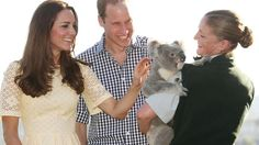After George left with his nanny, Catherine and William patted a koala Picture: Toby Zern