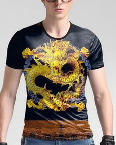 Casual Short Sleeve Graphic Tee Shirts,Colorful Butterfly Borders Fashion Personality Customization