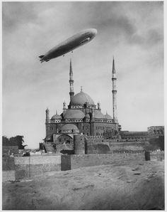 Zeppelin above the Citadelle in Kairo (April 11th 1931)