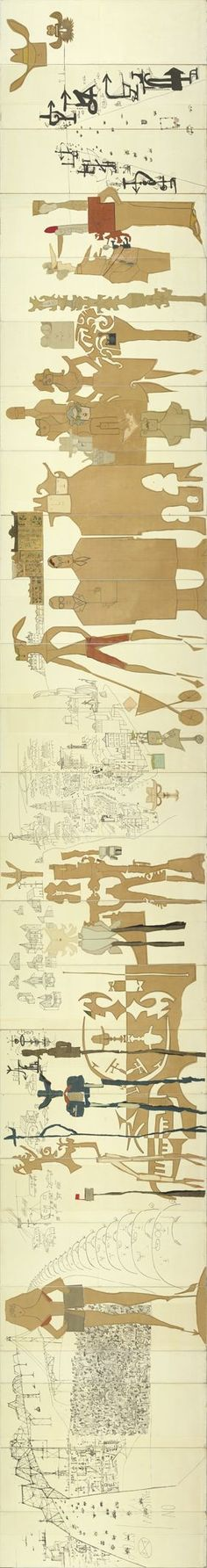 Saul Steinberg - The Americans - detail