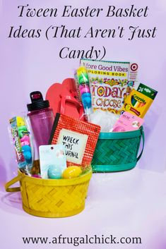 Unique easter basket for your 9 12 year old girls easter baskets tween easter basket ideas that arent just candy tweens can be negle Gallery