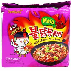 x 5 Spicy Ramen Noodles, Korean Noodles, Hot Ramen, Fire Chicken, Japanese Snacks, Chicken Flavors, Korean Food, Snack Recipes, Challenges