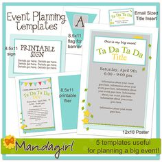 free templates for a big event flyers posters banner etc
