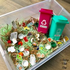 Dollar Tree Recycle Sorting Activities - Adulting Made Easy