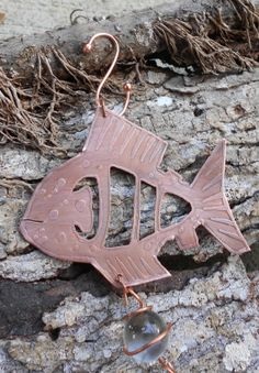 Handmade Hanging Copper Fish Ornament/Suncatcher by cochranplace, $20.00