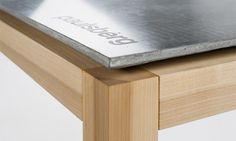 Dining Table made of a carbon-concrete-composite and tulipwood