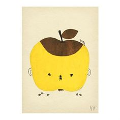 Apple Papple poster is one of Fine Little Day´s most popular products and it´s no wonder! The yellow apple character is really cute and becomes a colorful detail on the wall. The name