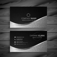 Stylish black and gray wave business car. Business Cards Layout, Premium Business Cards, Gold Business Card, Business Thank You Cards, Modern Business Cards, Business Pages, Business Card Design, Business Logo, Kids Graphic Design