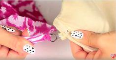 Ella engancha un pañuelo a su sujetador, ¿la razón? ¡¡Ella es un genio!!