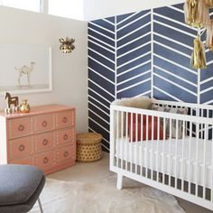 A Modern Nursery With the Cutest Baby-Animal Prints Ever