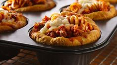 Looking for a tasty dinner? Then check out these cheesy lasagna pasta pies made using Pillsbury® Grands!® biscuits and Italian sausage - perfect if you love Italian cuisine.