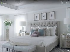Transitional Bedroom Design Ideas, Pictures, Remodel and Decor Glam Bedroom, Home Decor Bedroom, Modern Bedroom, Girls Bedroom, Bedroom Ideas, Bedroom Furniture, Bedroom Inspiration, Furniture Ideas, Diy Bedroom