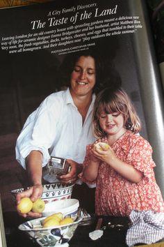 Emma Bridgewater - Victoria Magazine 1995  Emma looks a bit like Hugh Grant in this picture?