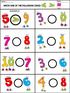 Spring - Math Fun Activities - 77 Pages - Education Preschool Learning Activities, Preschool Activities, Numbers Preschool, Kindergarten Math Worksheets, Math For Kids, Math Centers, Black White, Numicon, Bulletin Boards