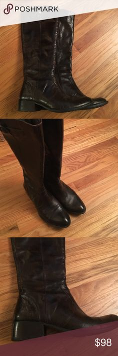 Born leather riding boots This boots are worn only once, still have price attached. Leather boots with man made some.Size is 8 M/W, leather is brown , distressed. Beautiful boots Born Shoes
