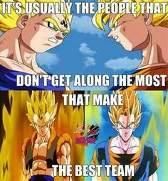 Gogeta!!! A force not to trump all. Gawd I'd do anything to be a saiyan.