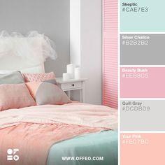38 New Ideas Bedroom Paint Decor Color Palettes Best Bedroom Colors, Bedroom Colour Palette, Pastel Colour Palette, Bedroom Color Schemes, Pastel Paint Colors, Spring Color Palette, Girls Bedroom Colors, Interior Design Color Schemes, Purple Color Schemes