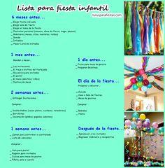 Lista para fiesta infantil - Tutus para Fiestas Mexico - Disfrases personalizados y moños
