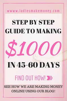 Step by Step guide to making $1K from your blog in 45-60 days