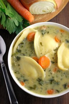 Creamy Ravioli Soup- A thick and creamy soup full of cheesy ravioli. Ravioli soup is quick, easy, and a recipe your whole family is guaranteed to love. passthechallah.com