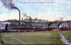 Coatesville PA High Bridge and long gone Tube Mills