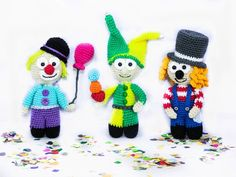 Flauschiges Clown Trio